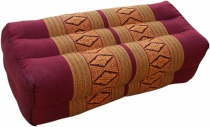 Meditation cushion, Thai neckrest square with kapok - red/gold