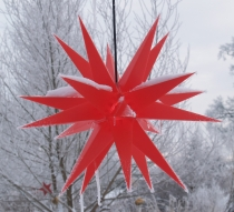Melchior Outdoor II Red, very stable 3D outer star Ø 60 cm, with ..