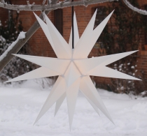 Melchior Outdoor II White, very stable 3D outer star Ø 60 cm, wit..