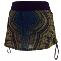 Mini skirt, Dashiki Yogarock - olive