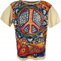 Mirror T-Shirt - Peace / beige