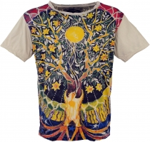 Mirror T-Shirt - Tree of life/ beige