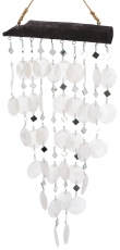 Shell Mobile, Ethno Wind Chimes, Suncatcher - white