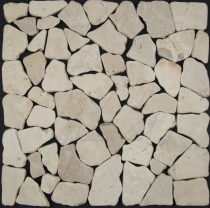 Mosaic tiles in white marble (G-01) - Design 2