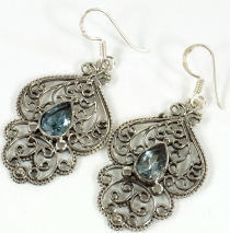 Facet cut earrings - Aquamarine