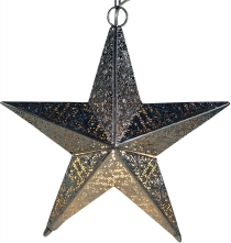 Oriental metal luminaire in star design usable as ceiling or corr..