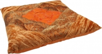 Oriental brocade quilt cushion, chair cushion 40*40 cm - orange