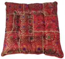 Oriental brocade quilt cushion, chair cushion 40*40 cm - red