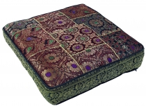 Oriental square patchwork cushion 40 cm, seat cushion, floor cush..