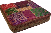 Oriental square patchwork cushion 40 cm, seat cushion, bottom cus..
