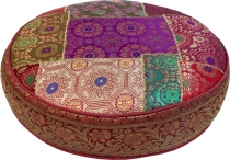 Oriental round patchwork cushion 40 cm, seat cushion, bottom cush..