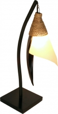 Palm Leaf Stand Lamp/Stand Lamp, handmade in Bali from natural ma..