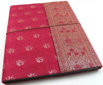 Photo albumPhoto albums with saree cover in pink 26*33 cm
