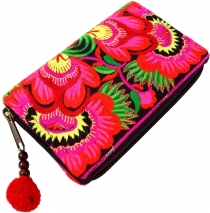 Ethno Wallet Chiang Mai - pink/black