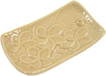 Ceramic incense stick holder beige - model 5