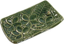 Ceramic incense stick holder green - model 6