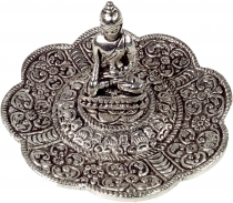 Incense plate white metal in 2 motives