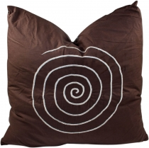 Retro cushion cover, cushion cover, decorative cushion - spiral b..