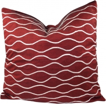 Retro cushion cover, cushion cover, decorative cushion - wave red