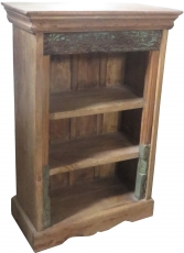 Small rustic bookcase, solid wood, colonial style - Model 4