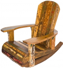 Rocking chair, wood Recycled teak armchair - Model 8
