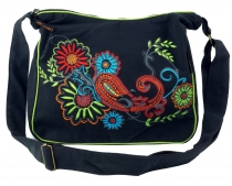 Shoulder bag, Hippie bag, Goa bag - black/coloured