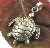 Silver pendant movable turtle - Model 3
