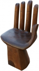 Chair in hand shape, stool, statue, handmade, unique - Model 2