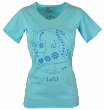 Star sign T-Shirt `Lion` - turquoise