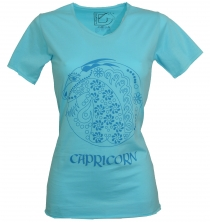 Star sign T-Shirt `Steinbock` - turquoise