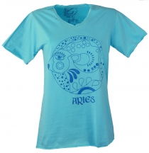 Star sign T-Shirt `Widder` - turquoise