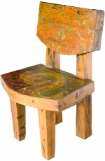 Chair, wooden armchair in recycled teak - Model 6