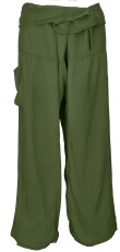 Thai fisherman pants from viscose, slightly falling fabric, wrap ..