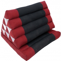 Thai pillow, triangle pillow, kapok, daybed with 1 pad - red/blac..
