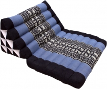 Thai pillow, triangle pillow, kapok, day bed with 1 pad - black/b..