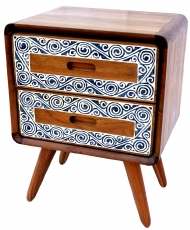 Small chest of drawers, drawer cabinet in retro design