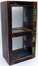 Vintage side table, shelf made of recycled wood