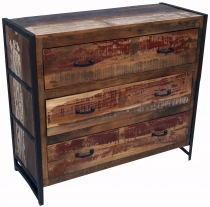 Commode, side cabinet, commode, television cabinet made of recycl..