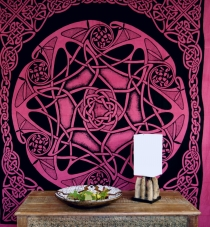 Wall hanging, wall cloth, mandala, bedspread Celtic - design 15