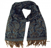Weicher Pashmina Schal / Stola mit Paisley Muster - petrol