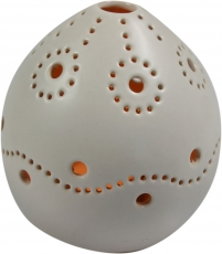 Wind light white, tealight holder ceramic