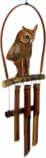 Exotic bamboo sound play - Wind chime `owl