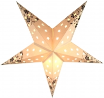 Foldable Advent light paper star, Christmas star 40 cm - Vineta