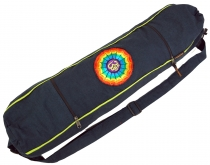 Yoga mat bag Rainbow Om - petrol