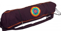 Yoga mat bag Rainbow Om - wine