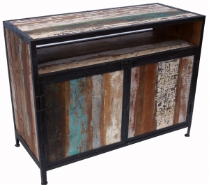 Chest of drawers, side cabinet, chest of drawers, TV cabinet made of recycled wood - model 5 - 80x105x45 cm