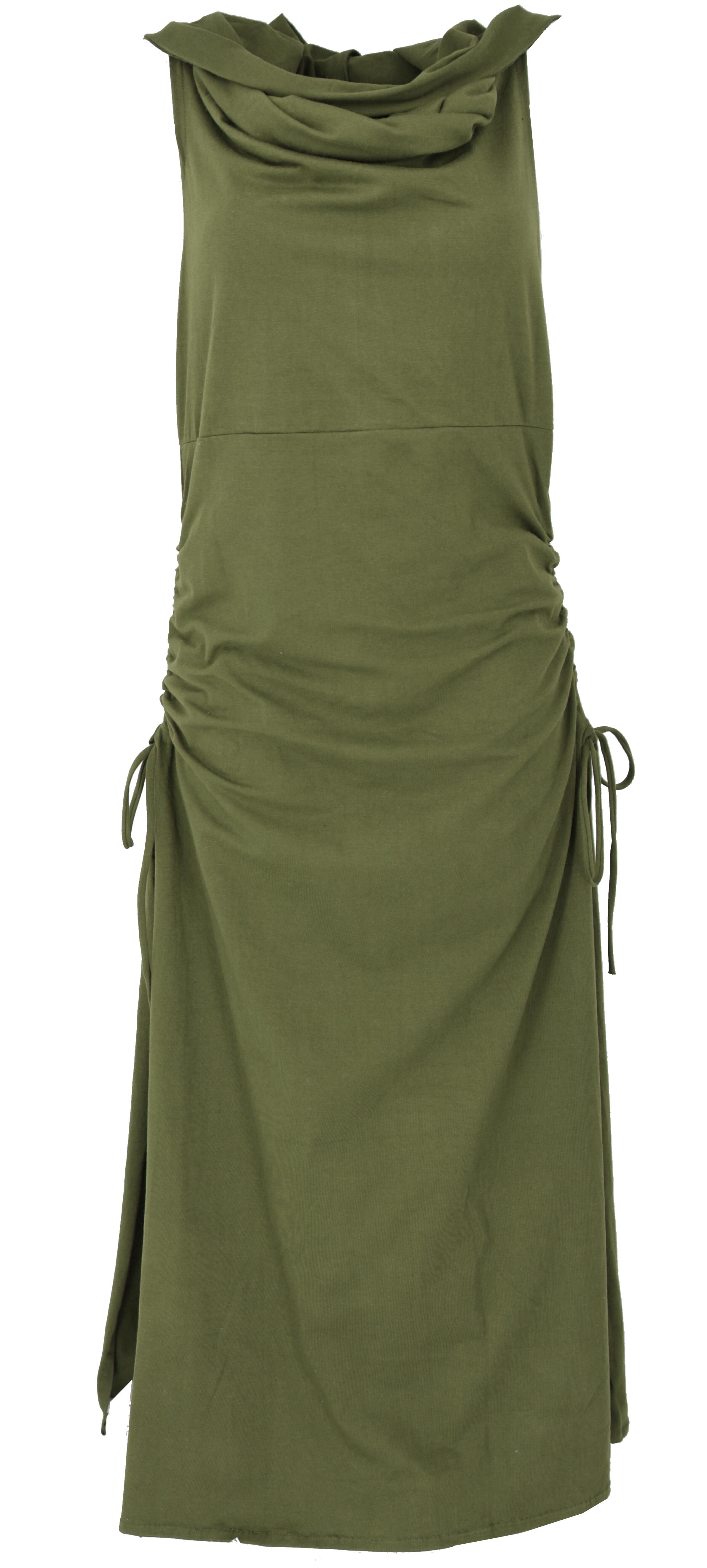 Wandelbares Goa Kleid, Psytrance Festival Kleid   olivgrün