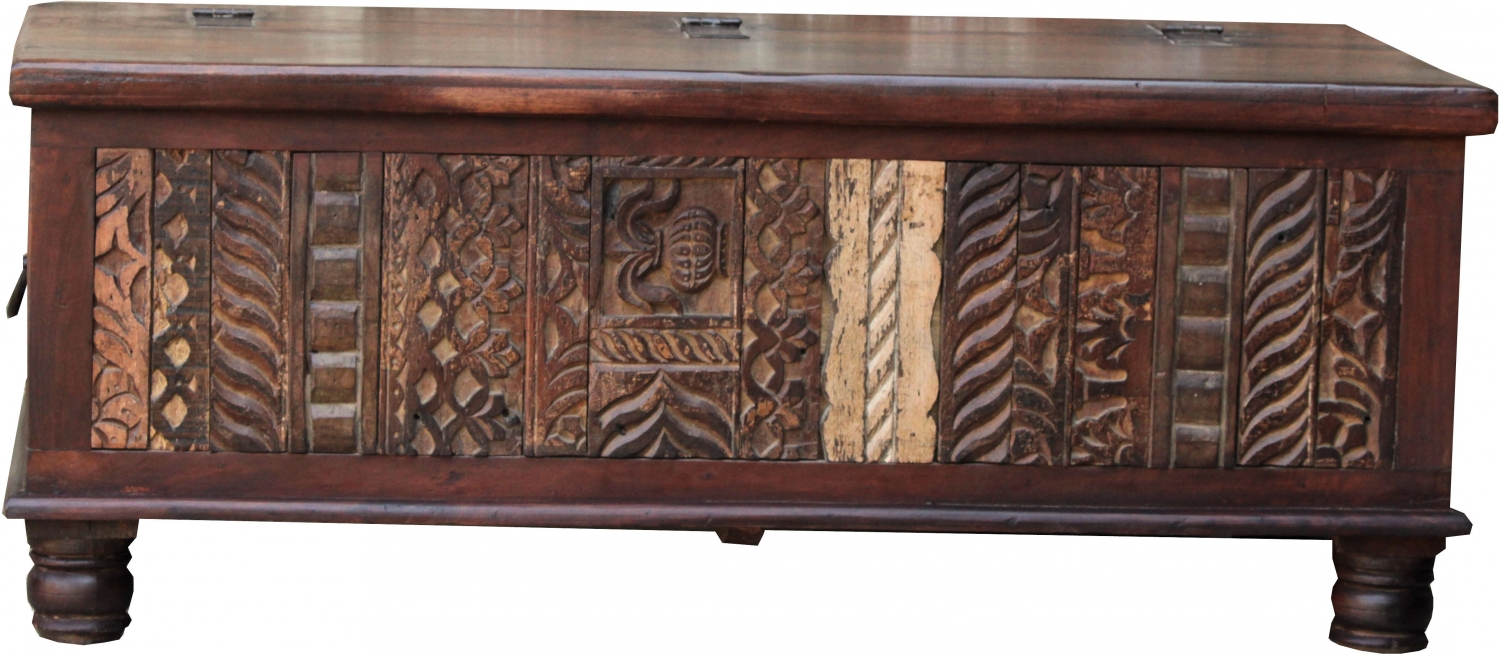- Antique Wooden Box, Wooden Chest, Coffee Table, Solid Wood Coffee
