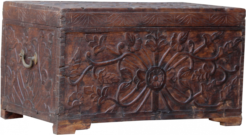 Antique Wooden Box Chest
