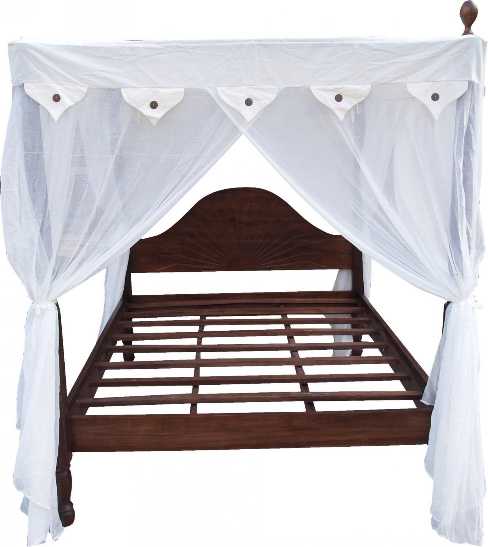 - Canopy Bed Ubud In Light Teak - Model 2 - 200x170x220 Cm